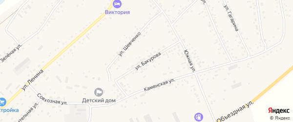 Улица Бакурова на карте села Панкрушихи с номерами домов