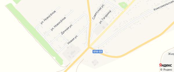 Западная улица на карте села Волчихи с номерами домов