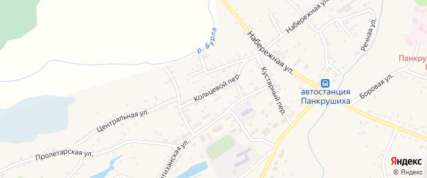 Кольцовый переулок на карте села Панкрушихи с номерами домов