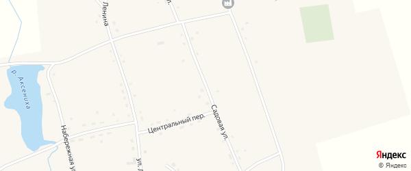 Садовая улица на карте села Зятьково Алтайского края с номерами домов
