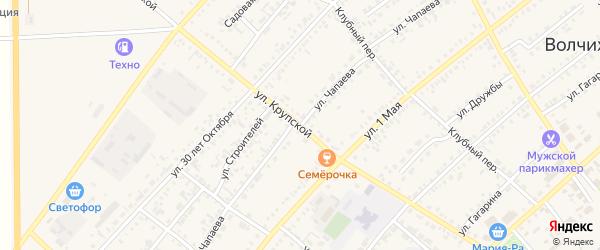 Улица Чапаева на карте села Волчихи с номерами домов