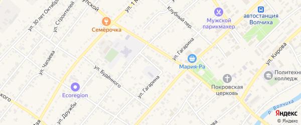 Школьный переулок на карте села Волчихи Алтайского края с номерами домов