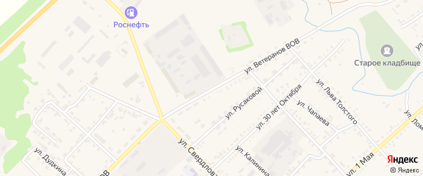 Улица Ветеранов ВОВ на карте села Волчихи Алтайского края с номерами домов