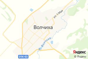 Карта с. Волчиха Алтайский край
