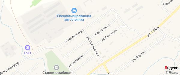 Северная улица на карте села Волчихи с номерами домов