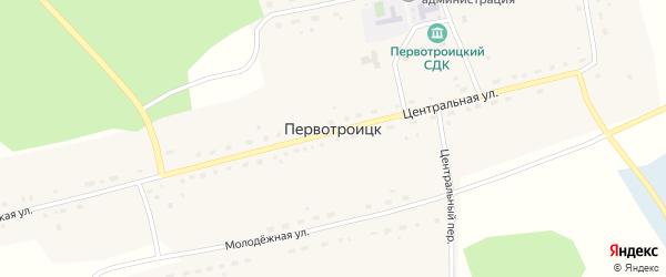 Молодежная улица на карте села Первотроицка Новосибирской области с номерами домов