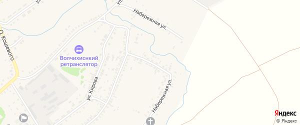 Набережная улица на карте села Волчихи Алтайского края с номерами домов