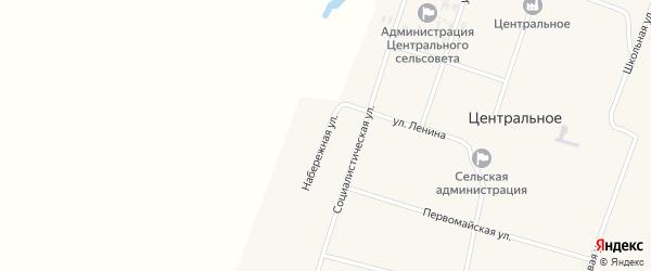 Набережная улица на карте Центрального села с номерами домов