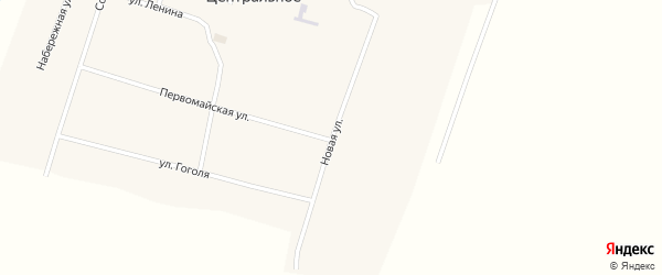 Новая улица на карте Центрального села с номерами домов