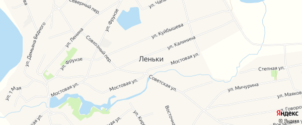 Карта села Леньки в Алтайском крае с улицами и номерами домов