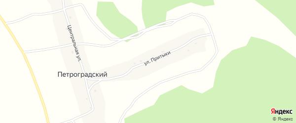 Улица Притыки на карте Петроградского поселка Новосибирской области с номерами домов