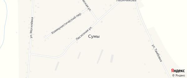 Надбережная улица на карте села Сум Новосибирской области с номерами домов