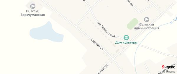 Садовая улица на карте села Верха-Чуманки с номерами домов