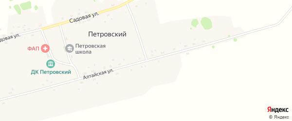 Алтайская улица на карте Петровского поселка Новосибирской области с номерами домов