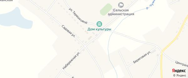 Набережная улица на карте села Верха-Чуманки с номерами домов