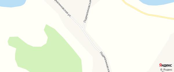 Подмалиновская улица на карте Глубокого села Алтайского края с номерами домов