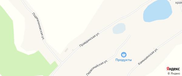 Правдинская улица на карте Глубокого села Алтайского края с номерами домов