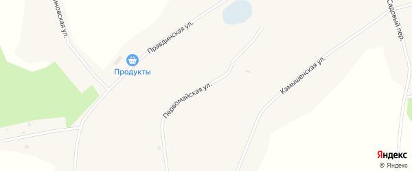 Первомайская улица на карте Глубокого села Алтайского края с номерами домов