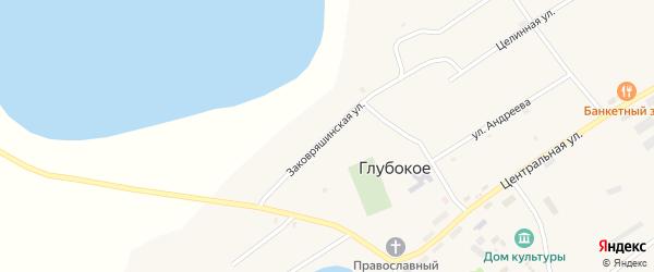 Заковряшинская улица на карте Глубокого села Алтайского края с номерами домов