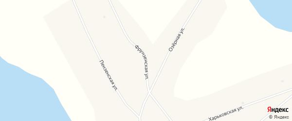 Фрунзенская улица на карте Глубокого села Алтайского края с номерами домов