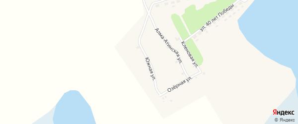 Южная улица на карте села Баево Алтайского края с номерами домов