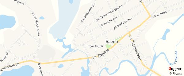 Карта села Баево в Алтайском крае с улицами и номерами домов