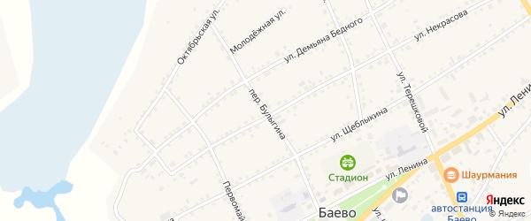 Переулок Булыгина на карте села Баево с номерами домов