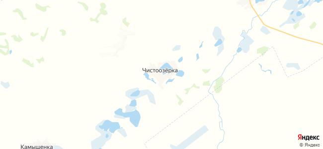 Чистоозерка на карте