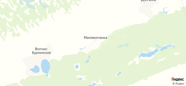 Маловолчанка на карте
