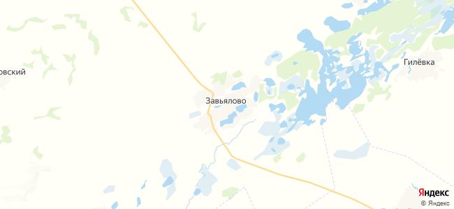 Завьялово на карте