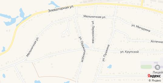 Улица Орджоникидзе в Чулыме с номерами домов на карте. Спутник и схема онлайн