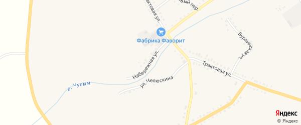 Набережная улица на карте Чулыма с номерами домов