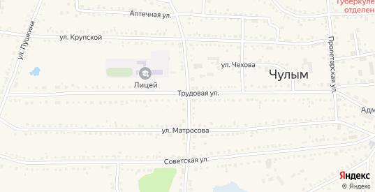 Садовая улица в Чулыме с номерами домов на карте. Спутник и схема онлайн