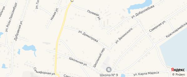 Улица Димитрова на карте Чулыма с номерами домов