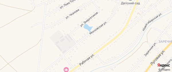 Московская улица на карте Чулыма с номерами домов