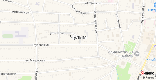 2-я Советская улица в Чулыме с номерами домов на карте. Спутник и схема онлайн