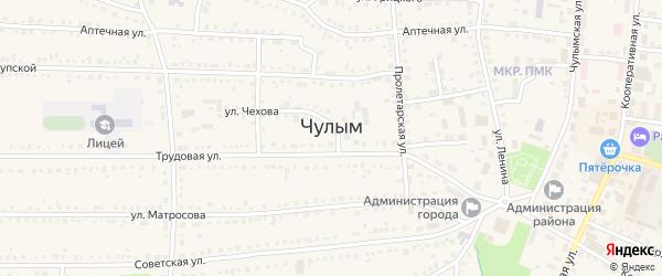 Улица Райподстанция на карте Чулыма с номерами домов