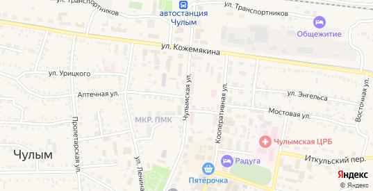 Чулымская улица в Чулыме с номерами домов на карте. Спутник и схема онлайн