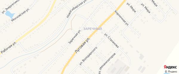 Луговая улица на карте Чулыма с номерами домов