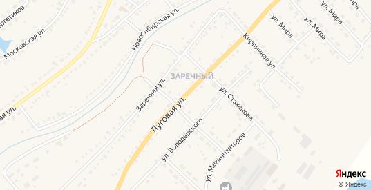 Луговая улица в Чулыме с номерами домов на карте. Спутник и схема онлайн
