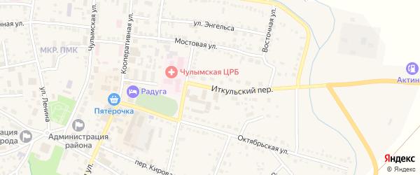 Иткульский переулок на карте Чулыма с номерами домов
