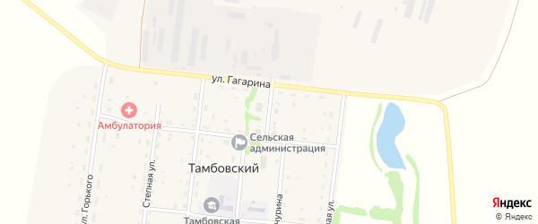 Центральный переулок на карте Тамбовского поселка с номерами домов