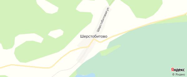 Карта поселка Шерстобитово в Новосибирской области с улицами и номерами домов