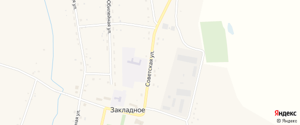 Советская улица на карте Закладного села с номерами домов