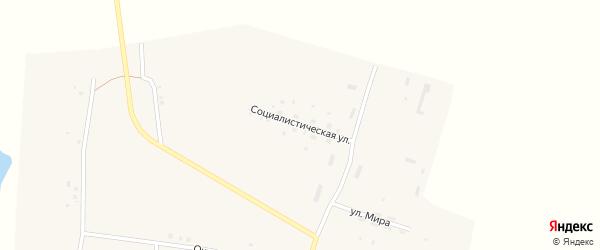Социалистическая улица на карте Закладного села с номерами домов
