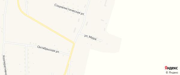 Улица Мира на карте Закладного села с номерами домов
