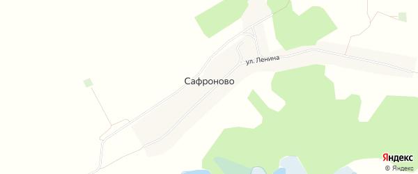 Карта села Сафроново в Алтайском крае с улицами и номерами домов
