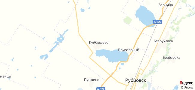 Куйбышево на карте