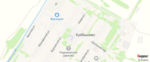 Школьный переулок на карте поселка Куйбышево с номерами домов