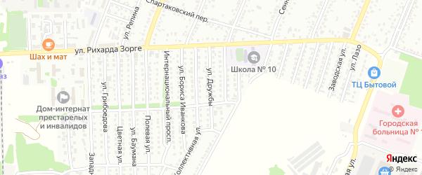 Улица Дружбы на карте Рубцовска с номерами домов